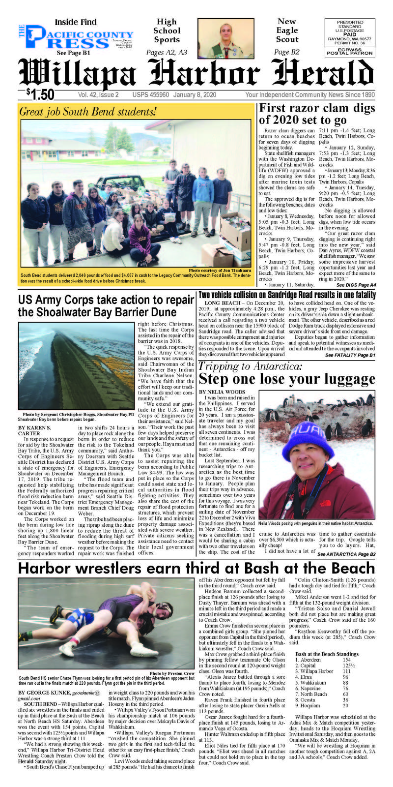 January 8, 2020 Willapa Harbor Herald and Pacific County Press