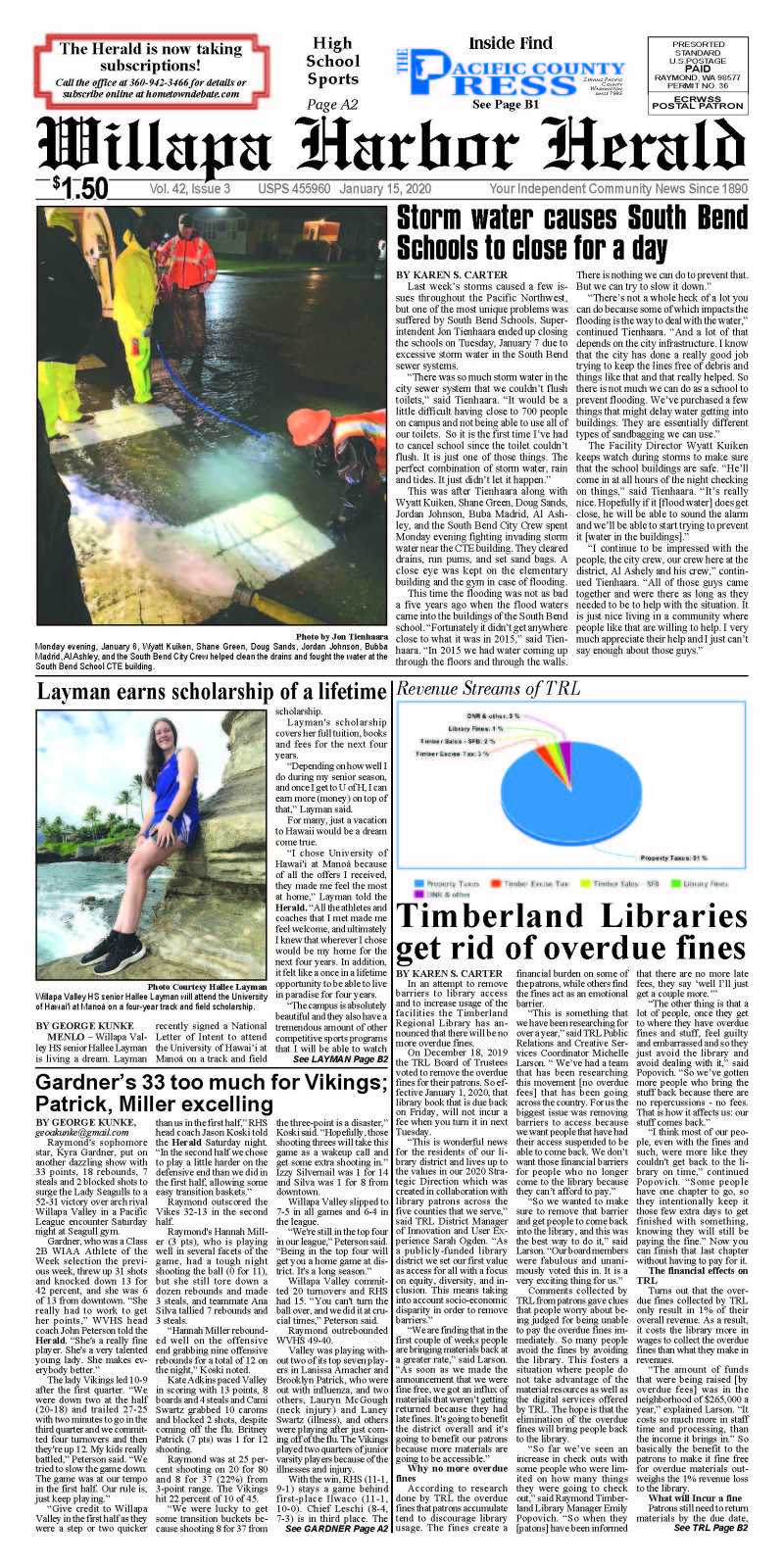 January 15, 2020 Willapa Harbor Herald and Pacific County Press