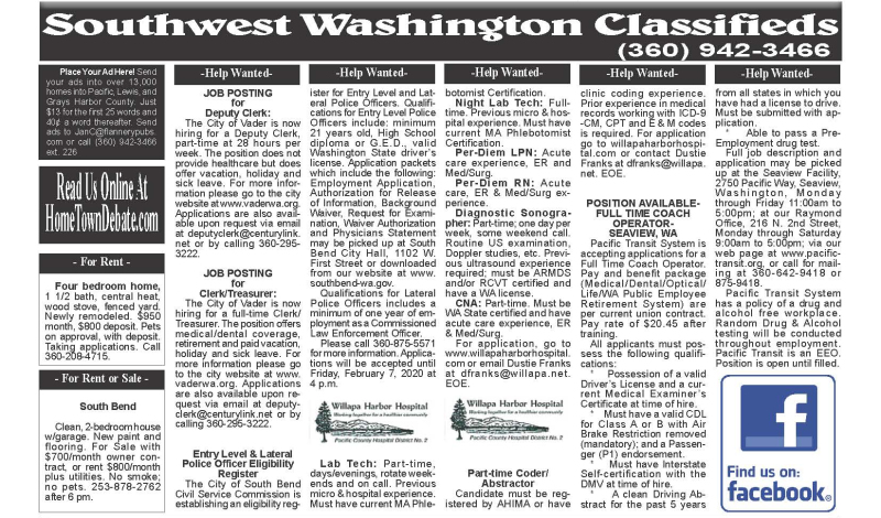 Classifieds 1.15.20