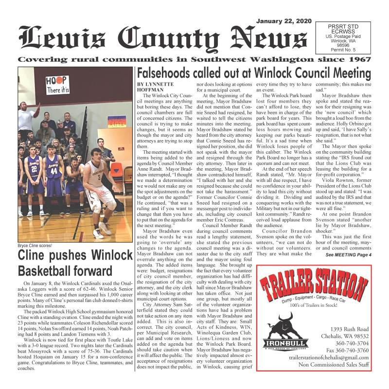 January 22, 2020 Lewis County News