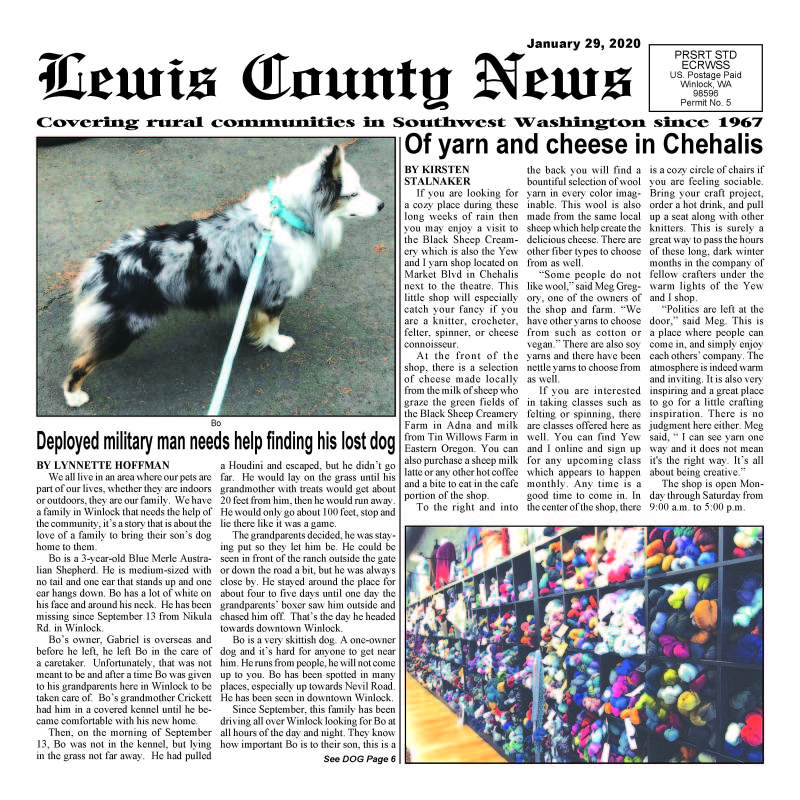 January 29, 2020 Lewis County News