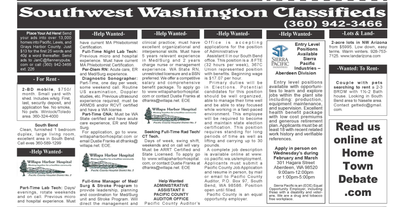 Classifieds 2.12.20