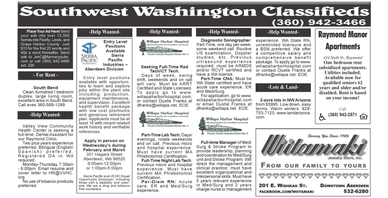 Classifieds 2.19.20