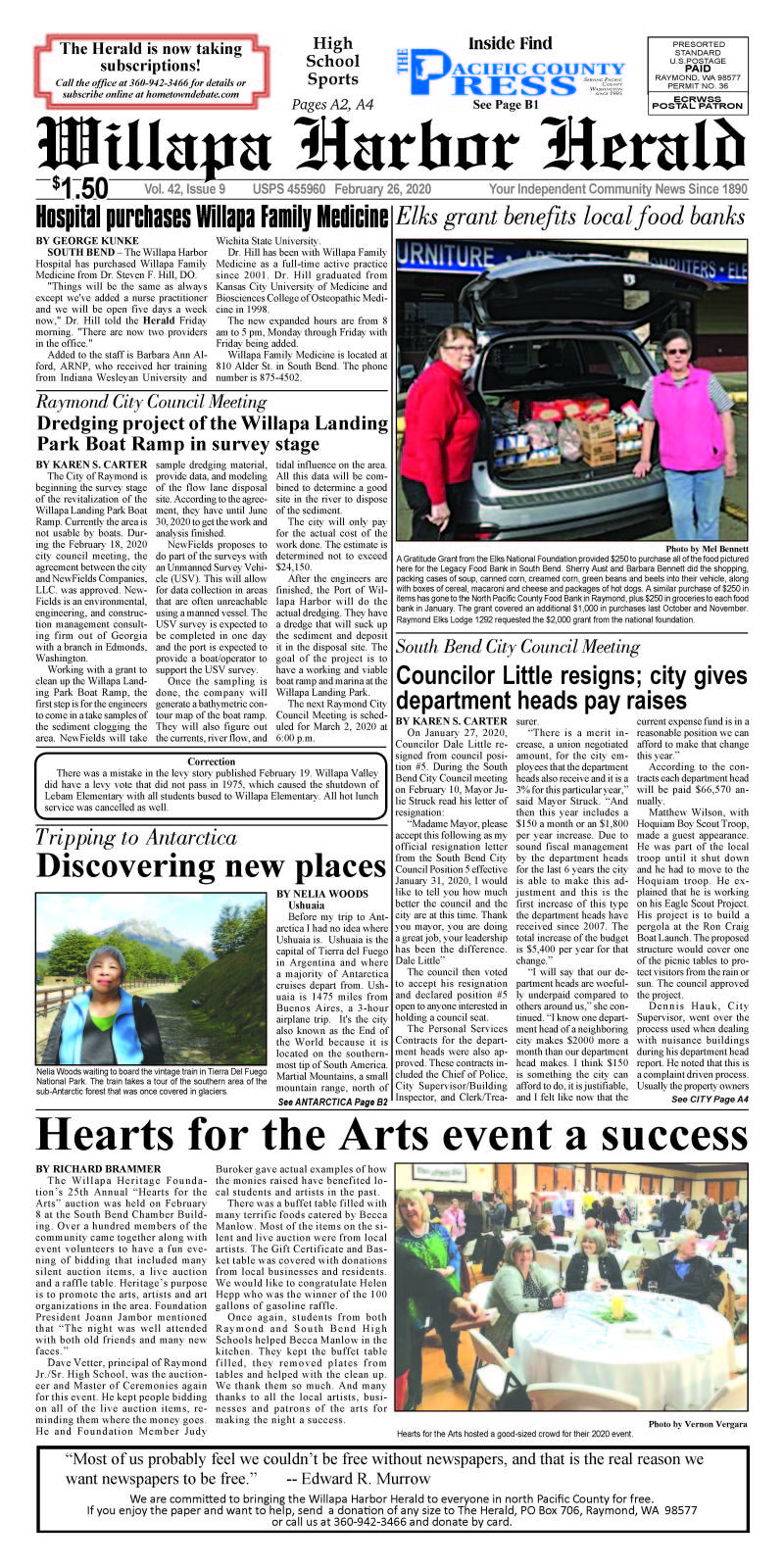 February 26, 2020 Willapa Harbor Herald and Pacific County Press