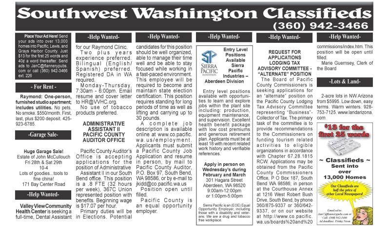 Classifieds 2.26.20