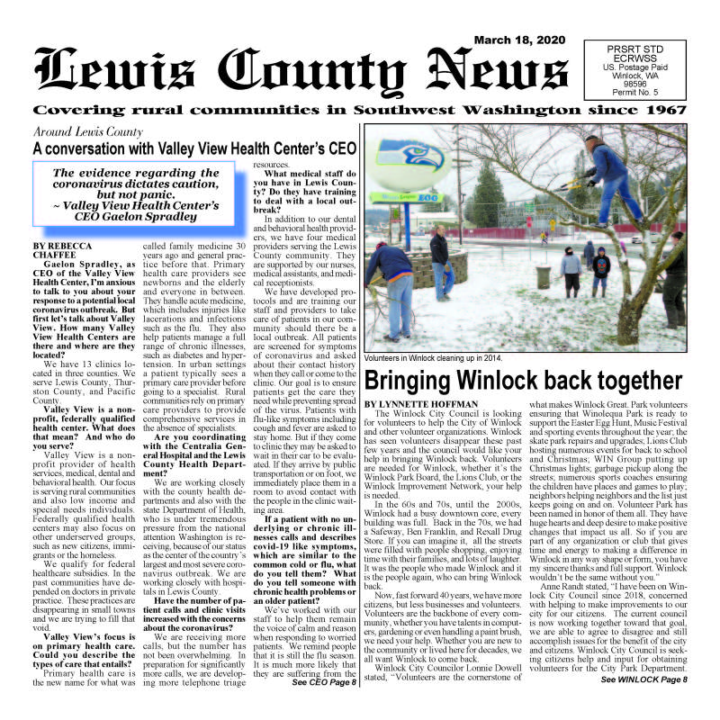 March 18, 2020 Lewis County News