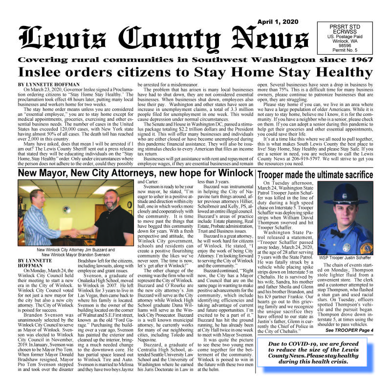 April 1, 2020 Lewis County News