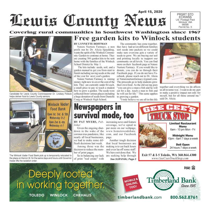 April 15, 2020 Lewis County News