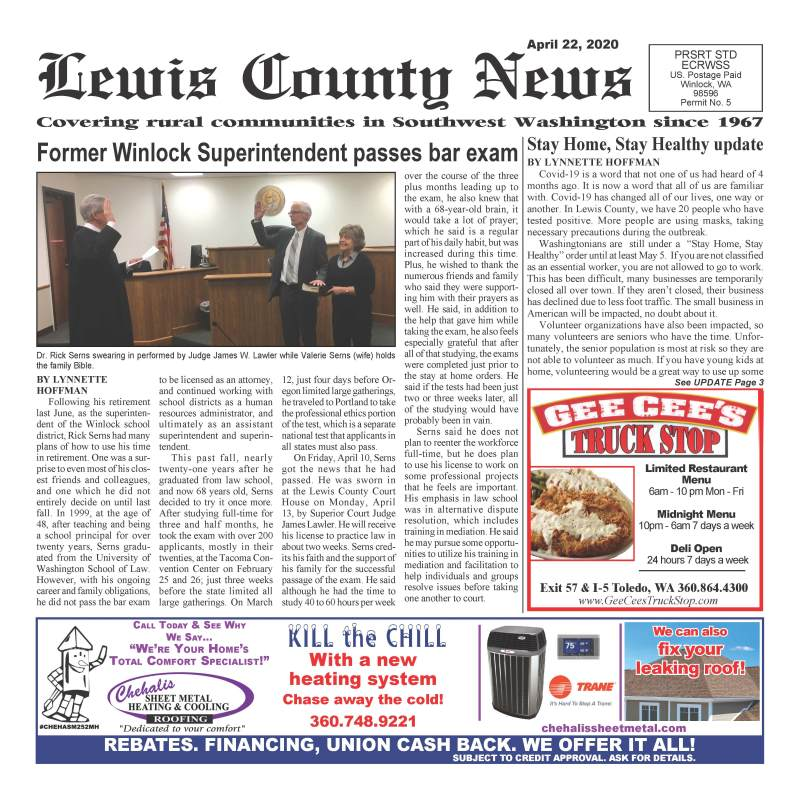 April 22, 2020 Lewis County News