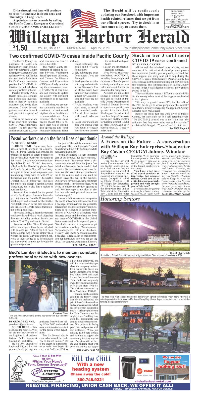 April 22, 2020 Willapa Harbor Herald and Pacific County Press