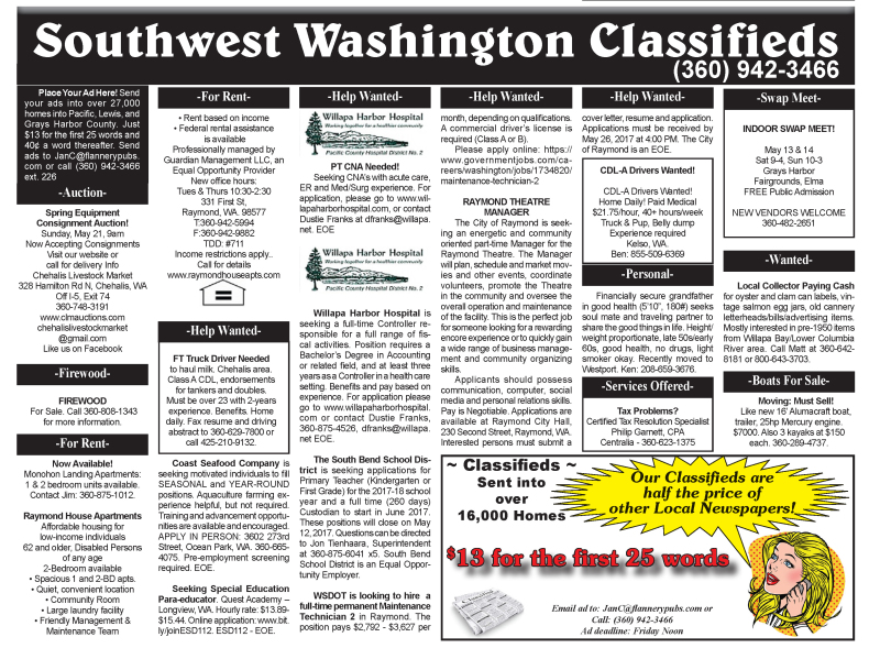 Classifieds 5.10.17