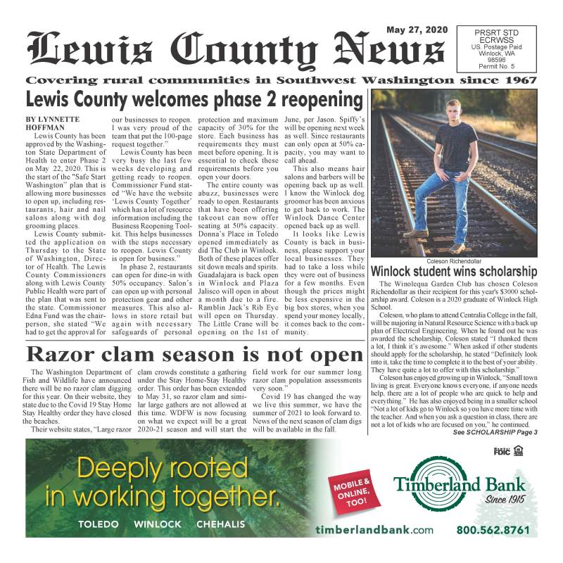 May 27, 2020 Lewis County News