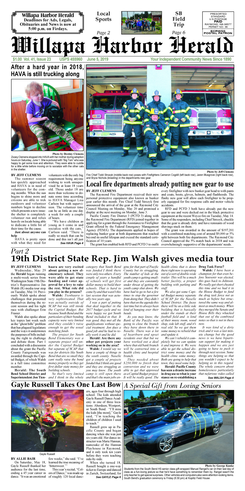 June 5, 2019 Willapa Harbor Herald