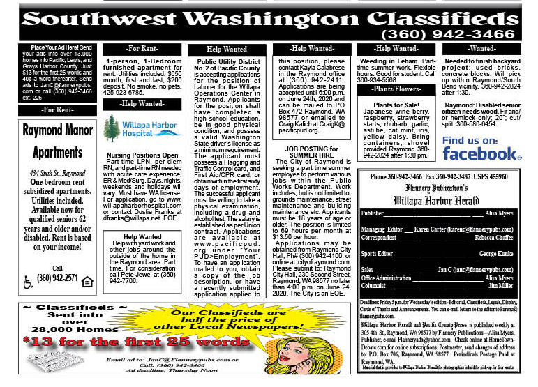 Classifieds 6.10.20