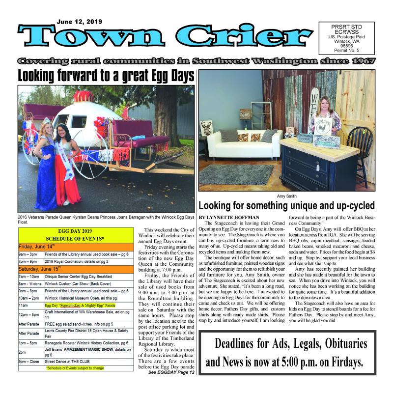 June 12, 2019 Town Crier
