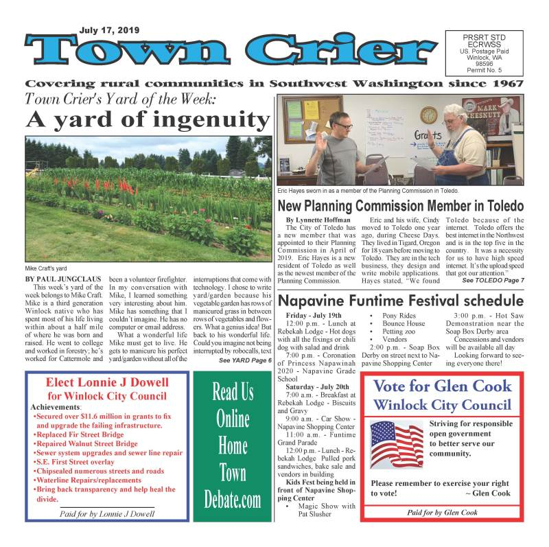 July 17, 2019 Town Crier