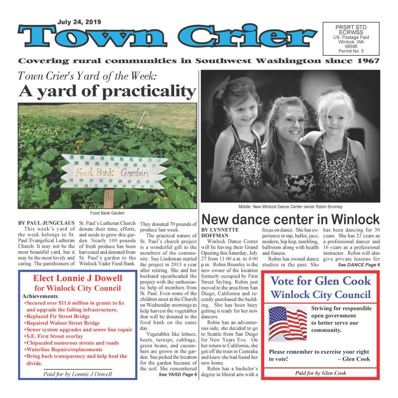 July 24, 2019 Town Crier