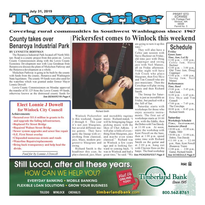 July 31, 2019 Town Crier
