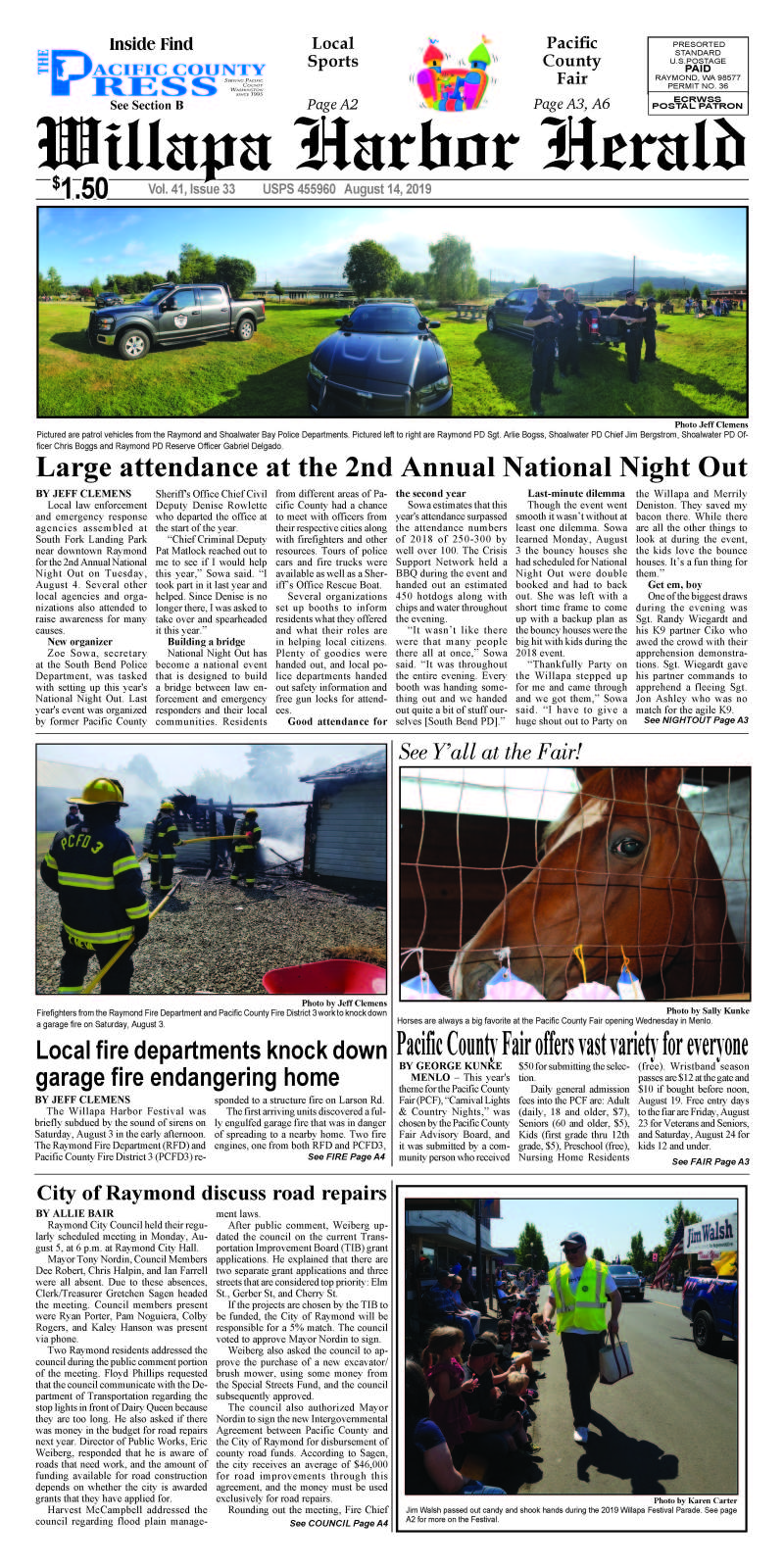 August 14, 2019 Willapa Harbor Herald