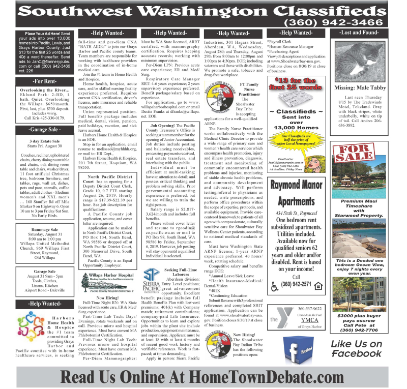 Classifieds 8.28.19