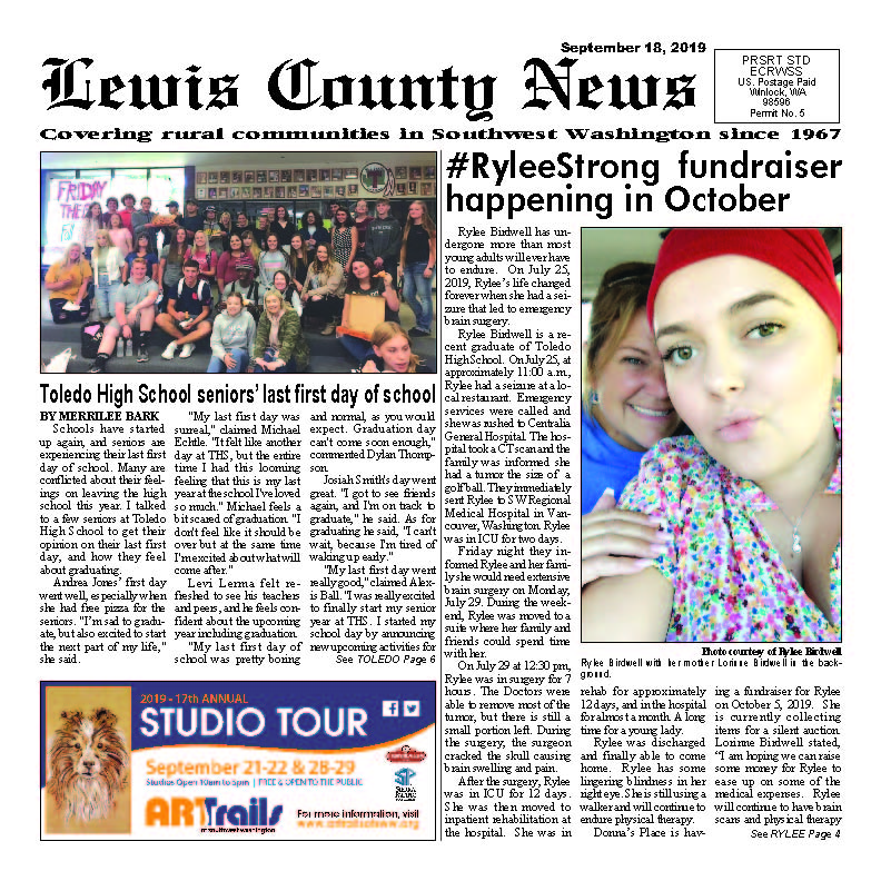 September 18, 2019 Lewis County News (Town Crier)