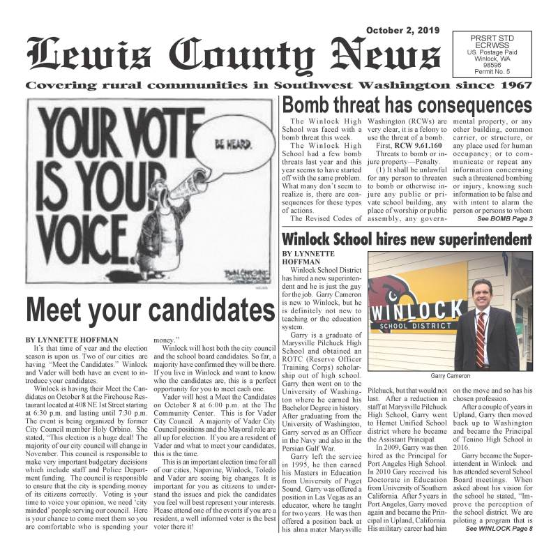 October 2, 2019 Lewis County News