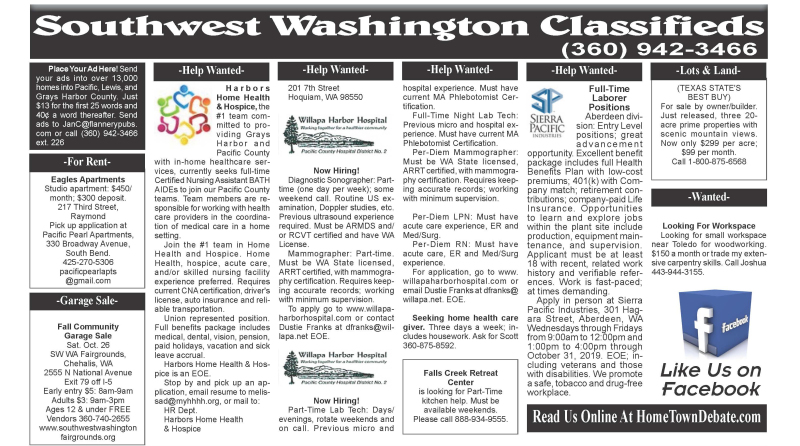 Classifieds 10.23.19