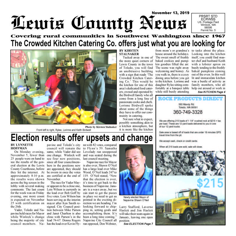 November 13, 2019 Lewis County News