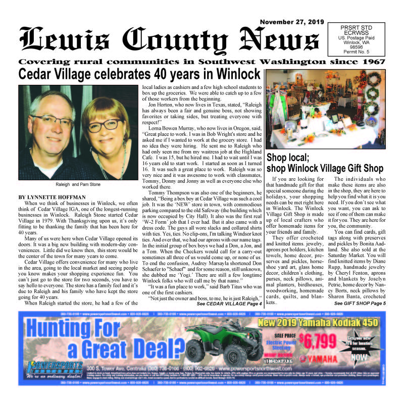 November 27, 2019 Lewis County News