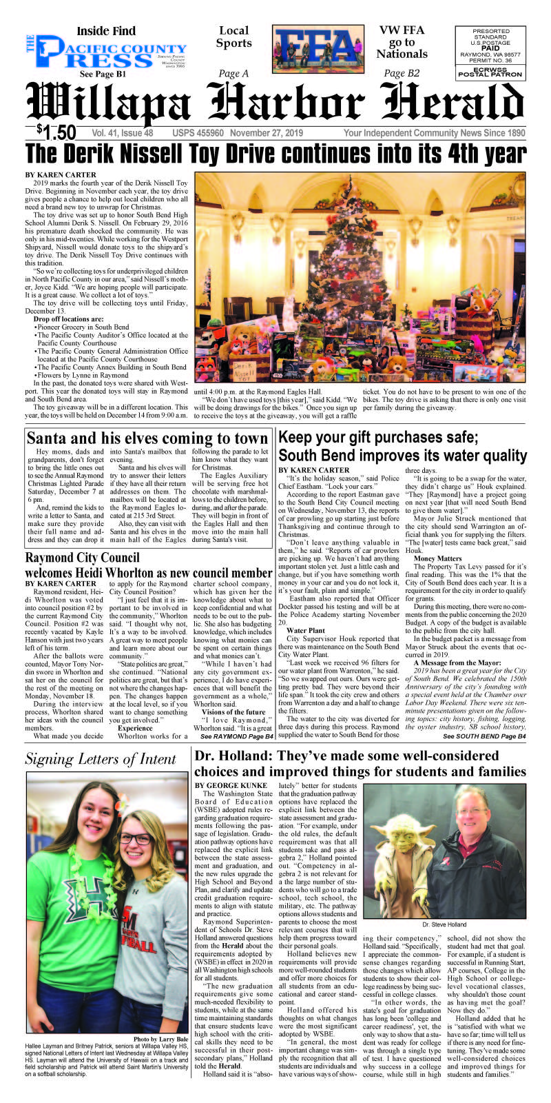 November 27, 2019 Willapa Harbor Herald and Pacific County Press