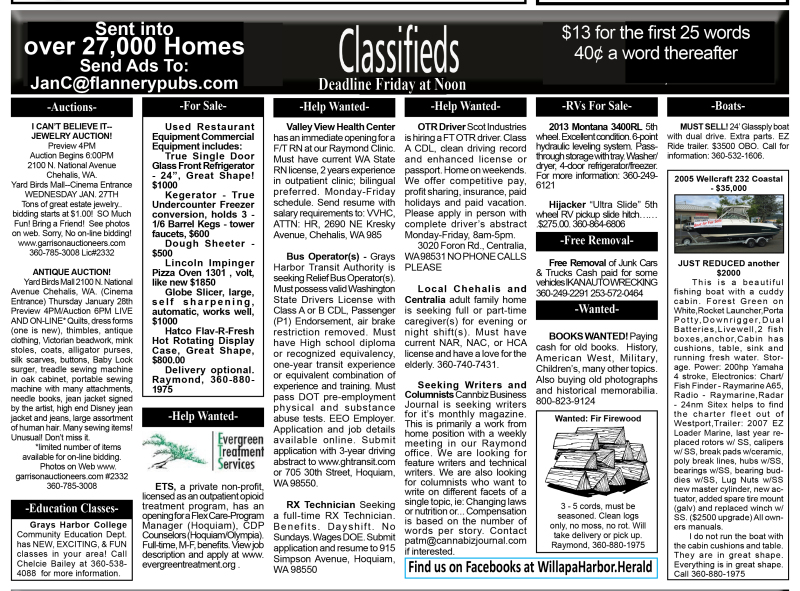 Classifieds 1.27.16