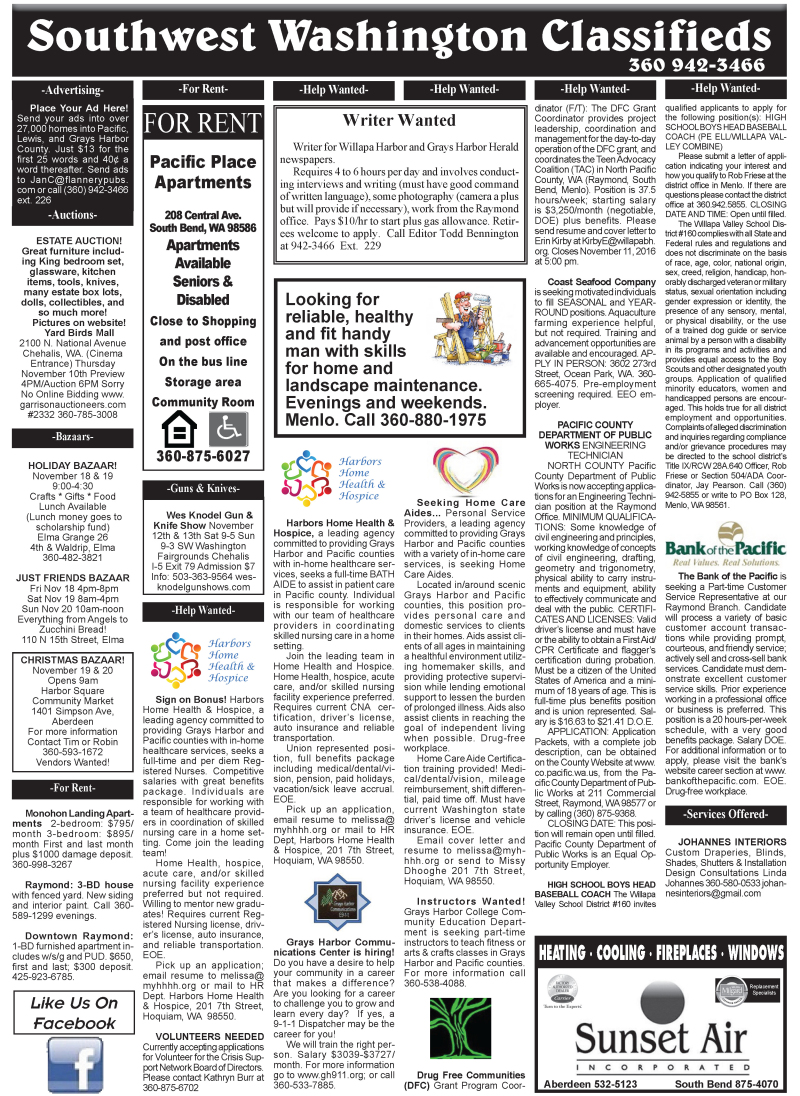 Classifieds 11-9-16
