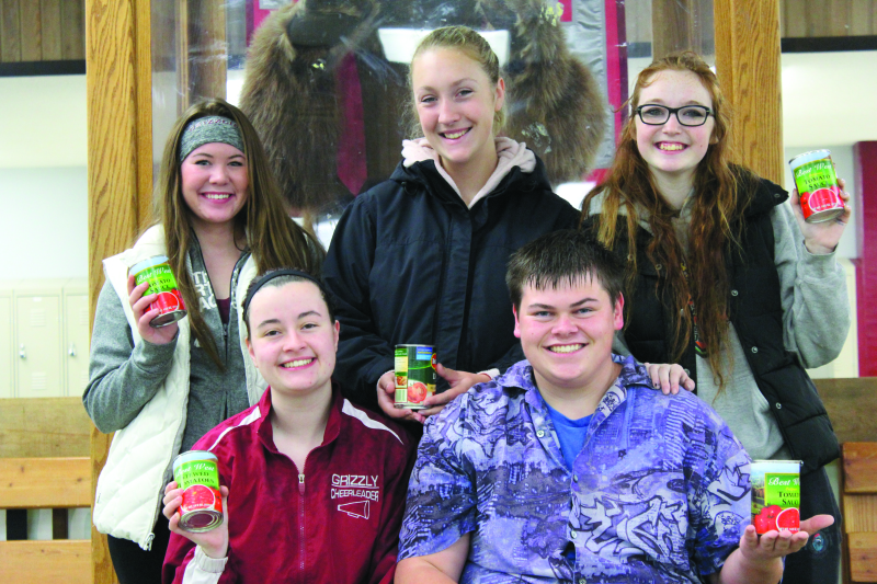 Photo by Patrick L. Myers - Hoquiam Food Ball Team: Left to right, Top: Paige Folkers, Morgan Dehnert, Mikayla Beeler. Bottom: Kennedy Gwin, Brandon Kelly