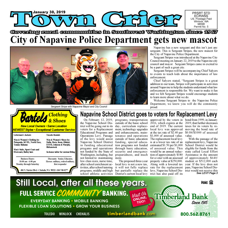 January 30, 2019 Town Crier