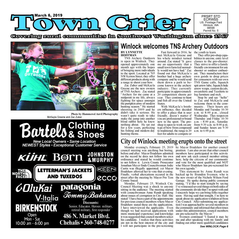 March 6, 2019 Town Crier