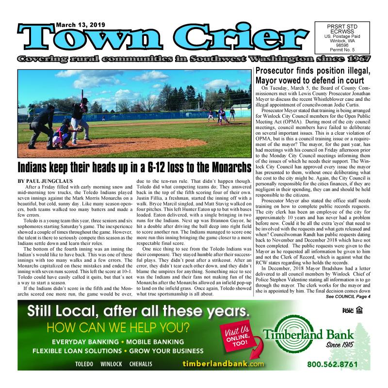 March 13, 2019 Town Crier