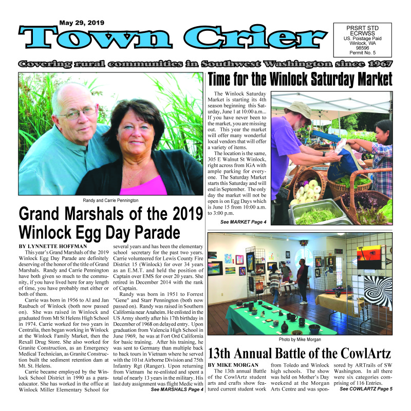 May 29, 2019 Town Crier