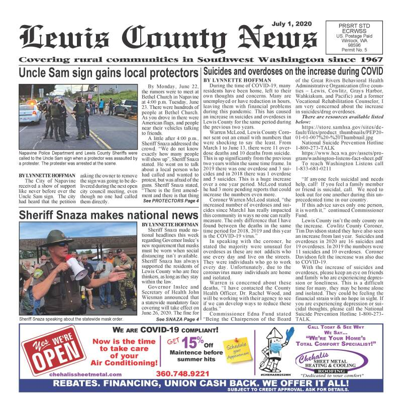 July 1, 2020 Lewis County News
