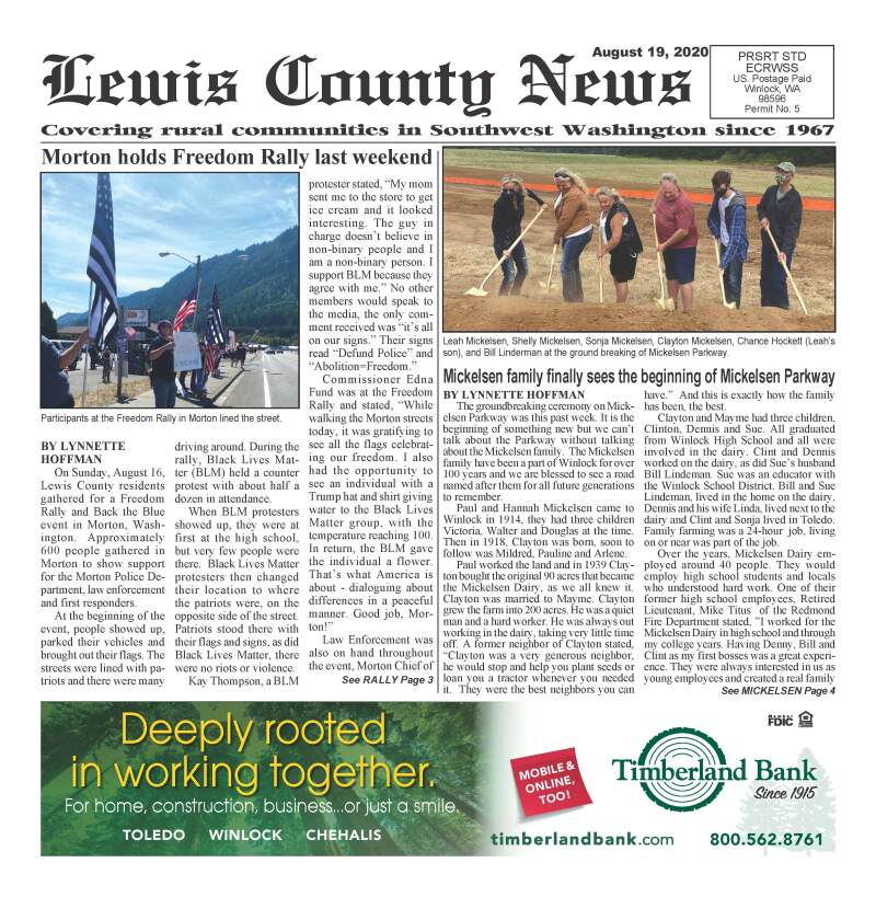 August 19, 2020 Lewis County News