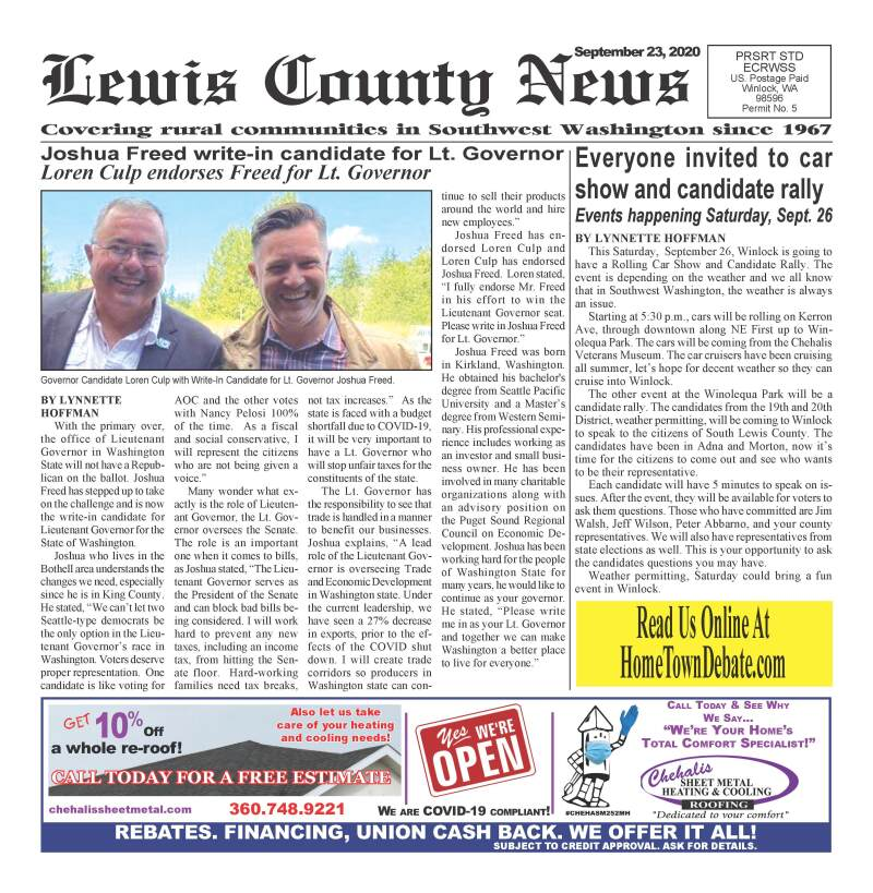 September 23, 2020 Lewis County News