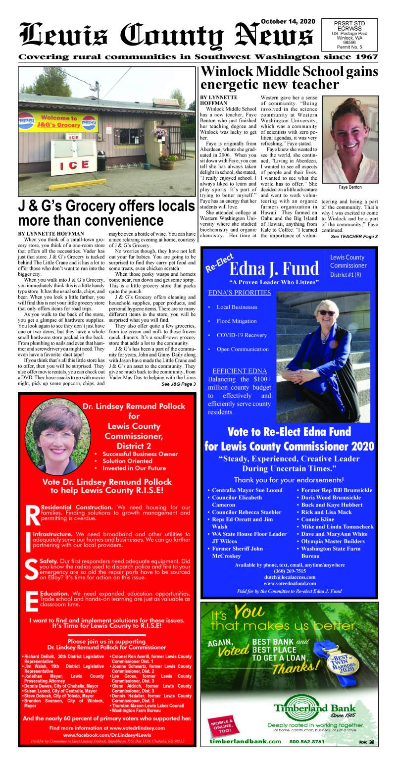 October 14, 2020 Lewis County News