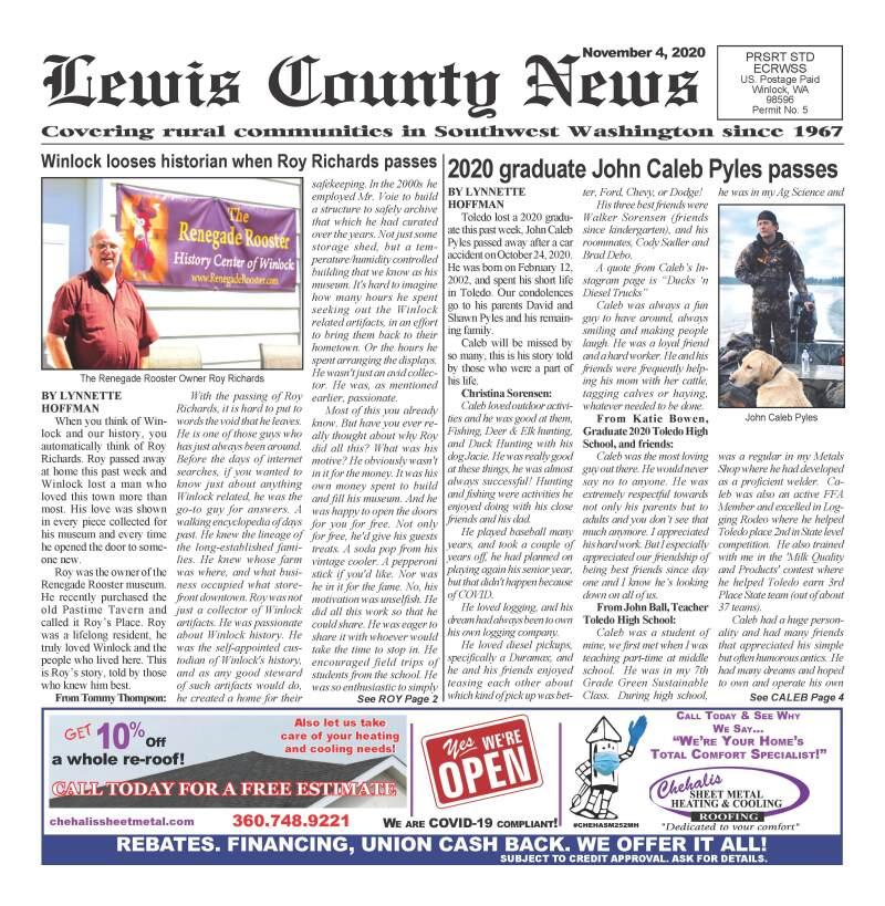 November 4, 2020 Lewis County News
