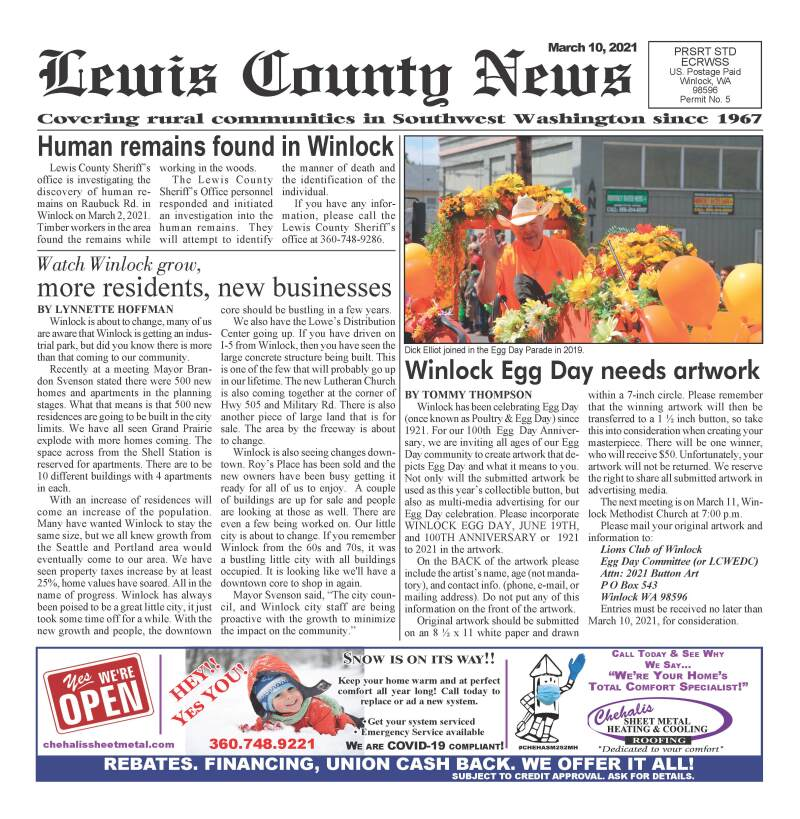 March 10, 2021 Lewis County News