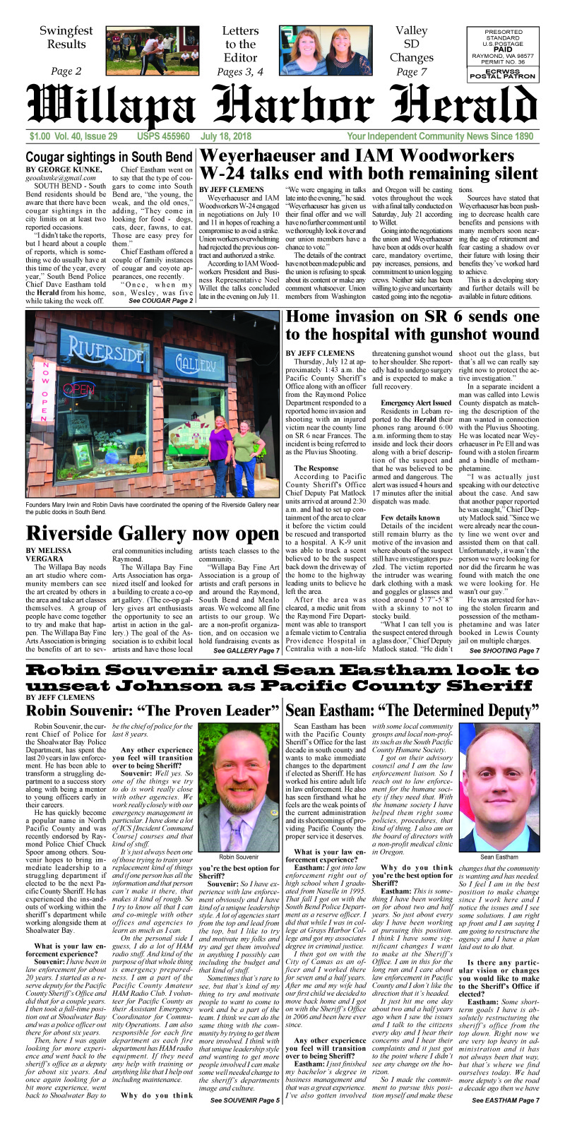 July 18, 2018 Willapa Harbor Herald