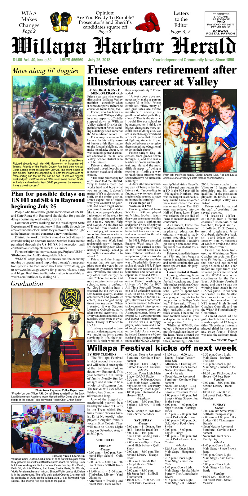 July 25, 2018 Willapa Harbor Herald