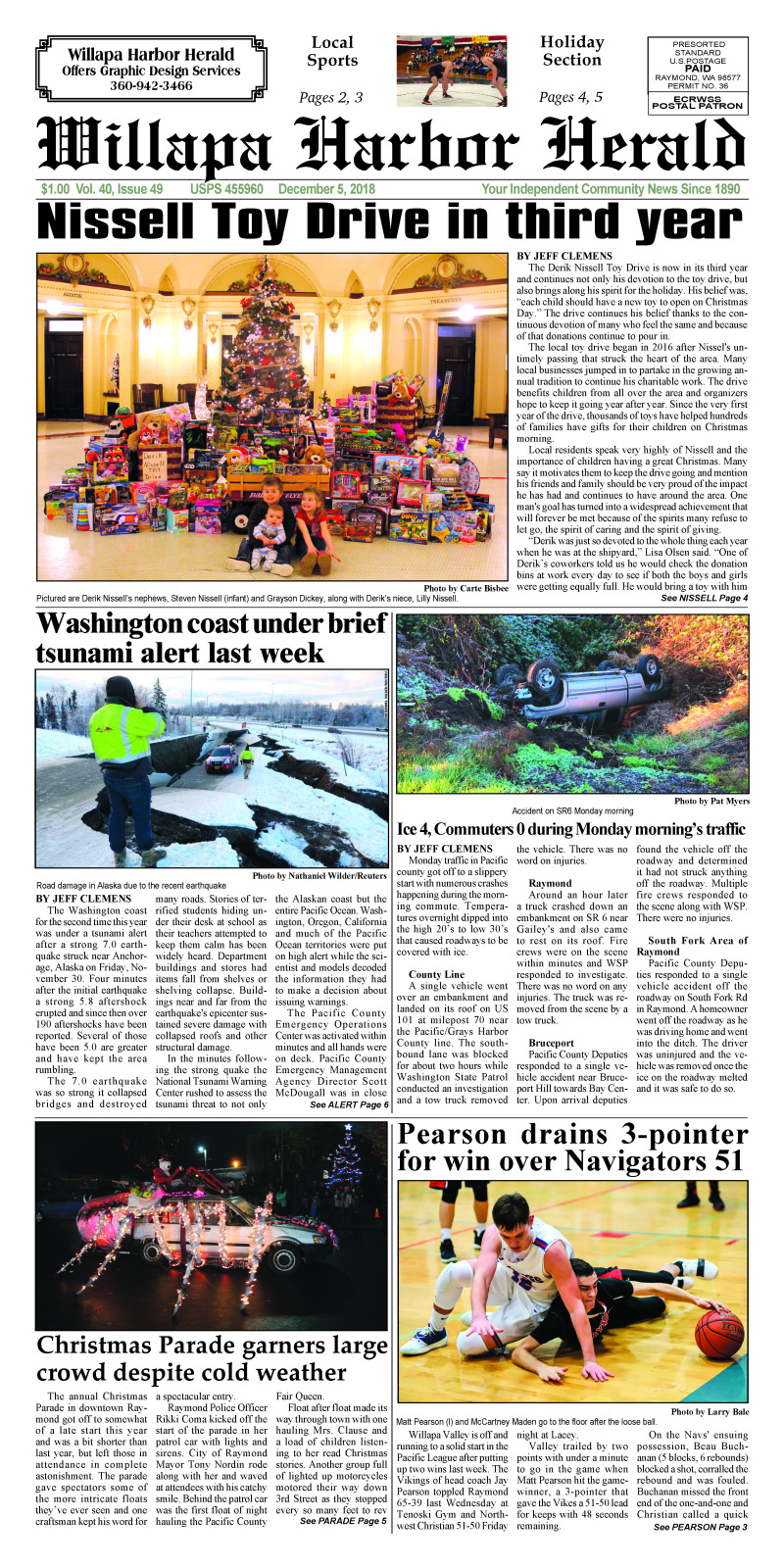 Willapa Harbor Herald December 5, 2018
