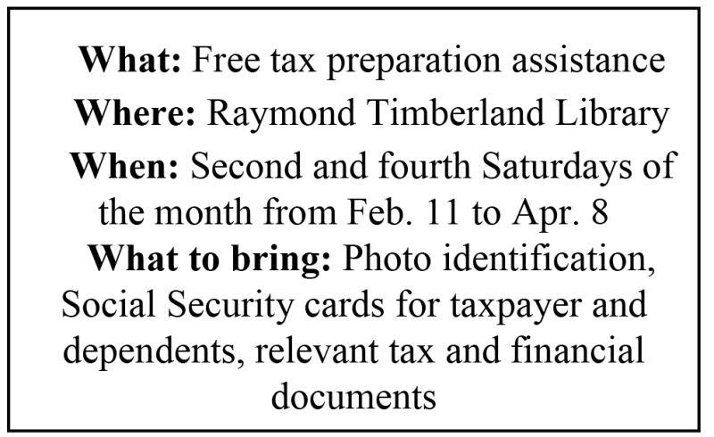 Free tax prep to be offered