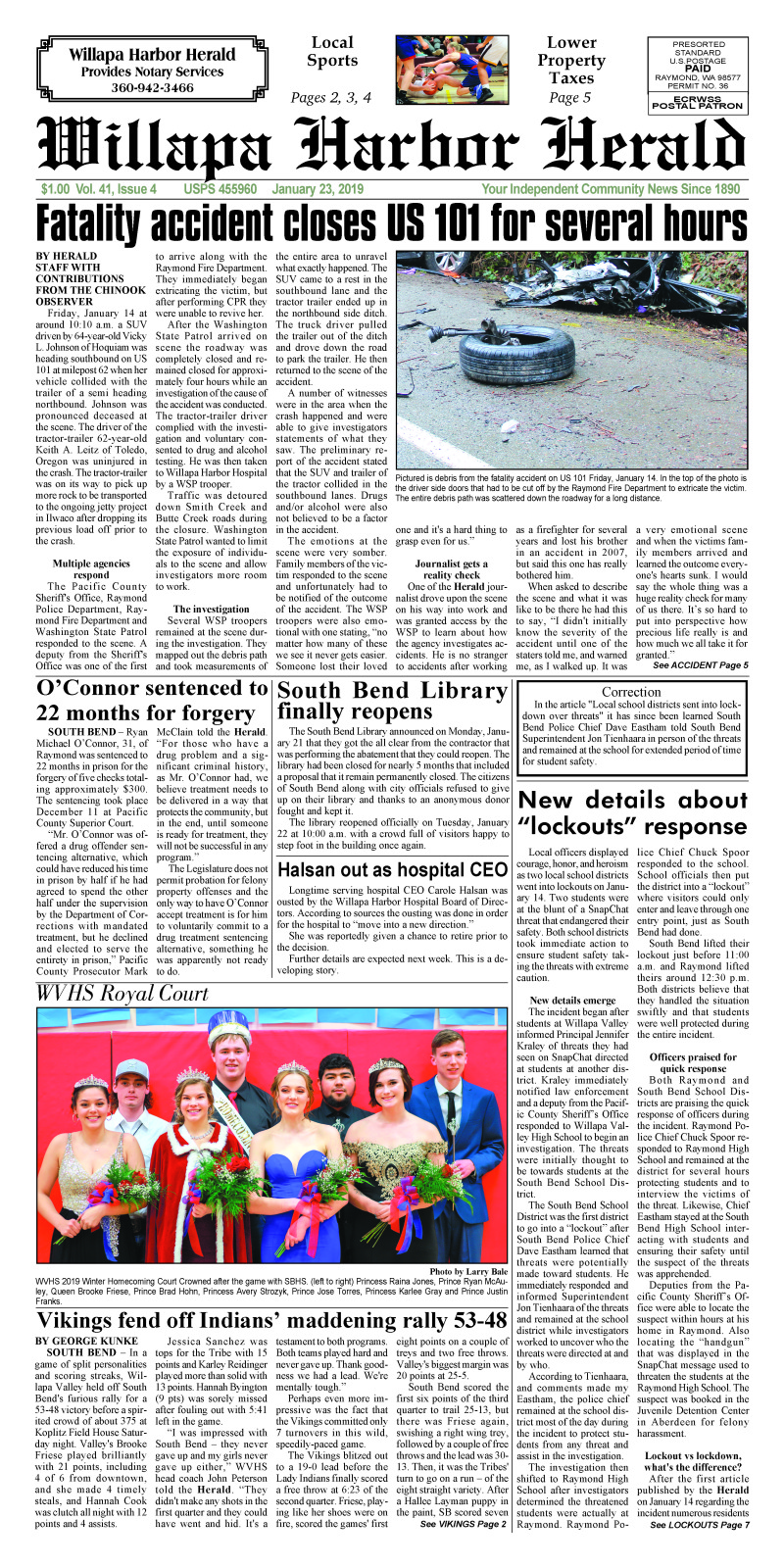 January 23, 2019 Willapa Harbor Herald