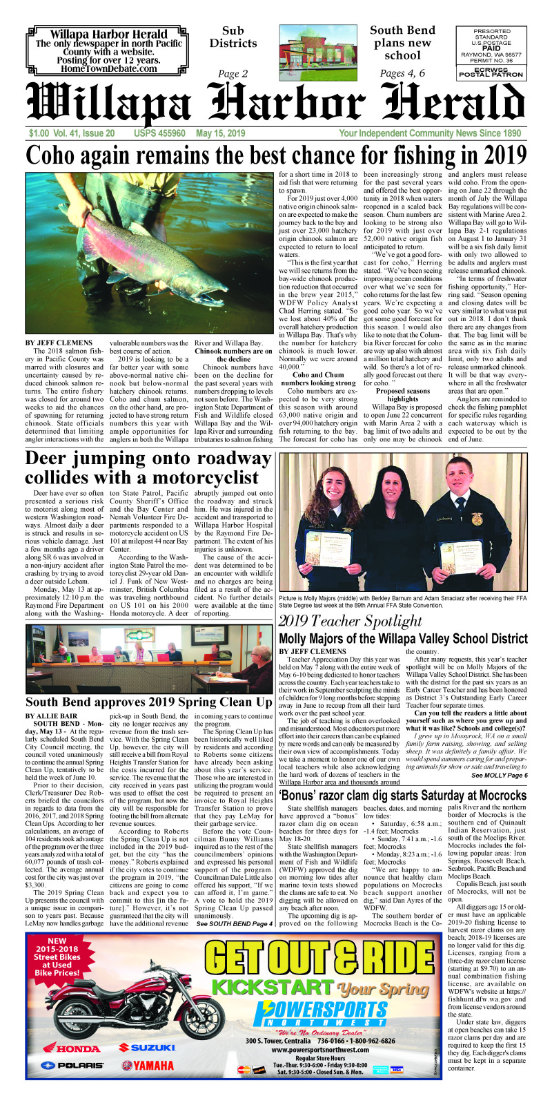 May 15, 2019 Willapa Harbor Herald