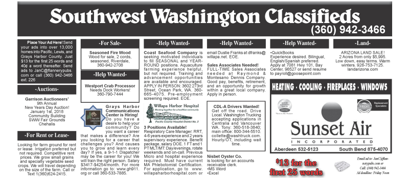 12.27.17 Classifieds